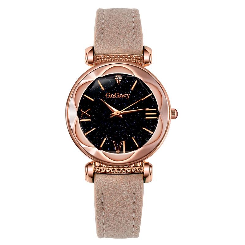 2018 Luxury Brand Gogoey Watch Women Watches Romantic Starry Sky Watch Rhinestone Rose Gold Women's Watches Reloj Mujer Clock