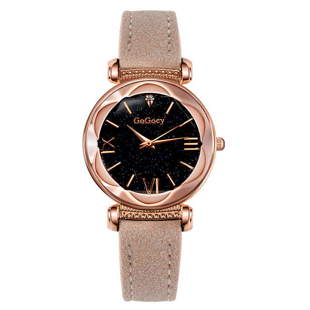 2018 Luxury Brand Gogoey Watch Women Watches Starry Sky Watch Rose Gold Women's