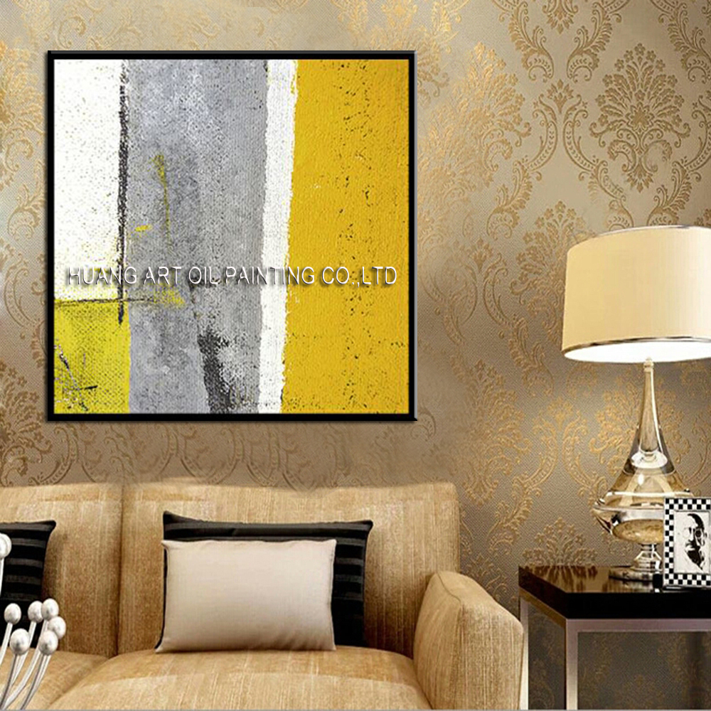 Hand Painted Colorful Abstract Oil Painting on Canvas for Living ...