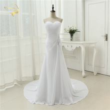 2017 New Arrival Vestido De Noiva Robe De Mariage Bridal Dress Mermaid Trumpet Chiffon Wedding Dresses Plus Size YN 9532