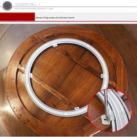 HQ WW01 NEW HEAVY DUTY Cold Rolled Steel Lazy Susan Turntable Dining Table Swivel Plate for WOOD TABLE with Horse Iron Acces