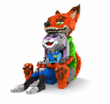 Balody Mini Blocks Cartoon Building Toy Cute Judy Rabbit Nick Fox Model  bricks children DIY educational assembly cartoon bricks wisehawk nanoblocks zootopia judy hopps nick wilde plastic building blocks bricks anime cartoon diy model educational toys kids