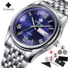 リロイ Hombre 2019 メンズ腕時計ステンレス鋼ビジネスクォーツ腕時計男性用高級ブランド発光日付メンズ腕時計 2018
