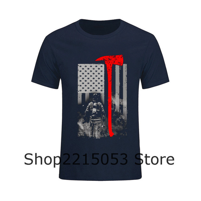 Mens T Shirts Youth Firefighter Wildland Par Custom Shirt Male Tee Tshirt