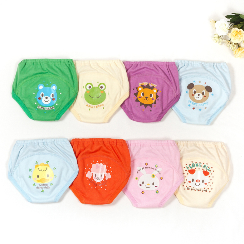 2019 Fashion 4pieces/set Baby Boys Girls Reusable Training Pants Cloth Diapers Potty Training Panty Toddler Bebe Cartoon Diapers