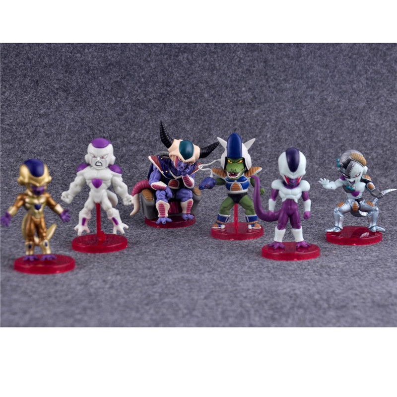 6pcs/lot Anime Dragon Ball Z Figures Freeza Juguetes PVC Action Figure Brinquedos Collec ...