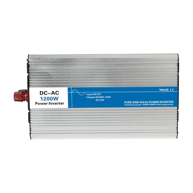1200 w pur onduleur à onde sinusoïdale DC 12 v/24 v/48 v à AC 110 v/ 220 v tronic onduleur circuits hors réseau cravate pas cher 12 24 48 v