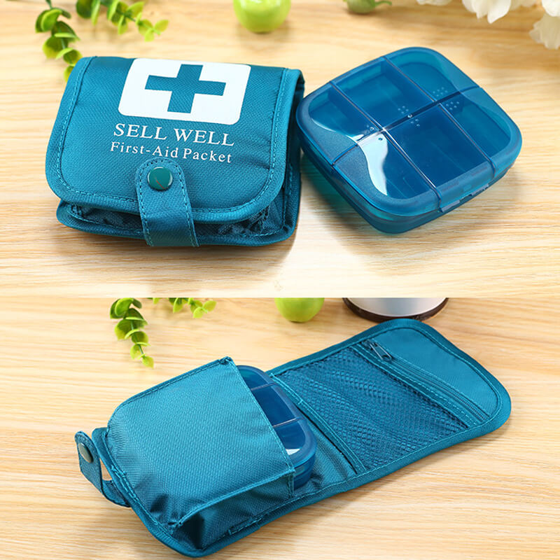 Mini First Aid Kit Empty Bag Home Emergency Survival Pouch