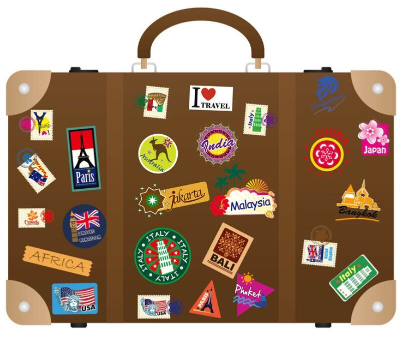 Fashion Creative Sightseeing World Free Sticker DIY