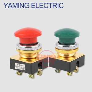 P181 Momentary Mushroom Push Button Switch 5A 250VAC electrical switch 4 screws 30mm 1 NO 1 NC Green/Red LA2 LA2-J