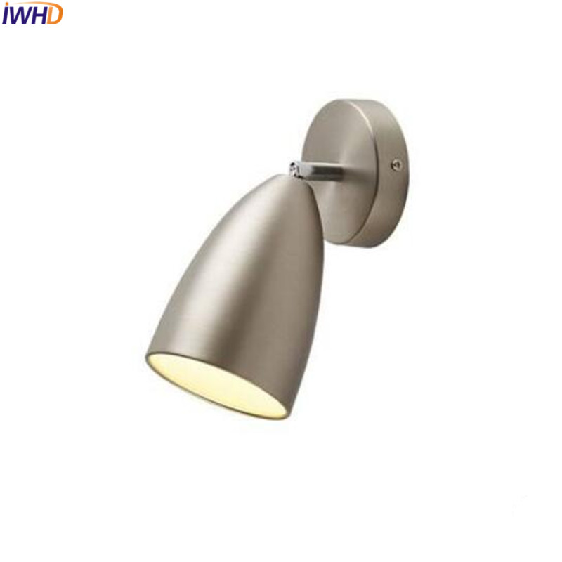 Led Indoor Wall Lamps Iwhd Nordic Simple Led Wall Lamp Modern Home Lighting White Black Wall Light Led Sconces Wandlampen Lampara Pared Pretty And Colorful