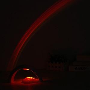 Image 5 - LED coloré arc en ciel lampe LED veilleuse romantique arc en ciel projecteur lampe universelle de Projection Portable décor à la maison