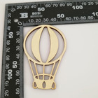 24pcs Blank Wooden Hot Air Balloon Laser Cut Out Unfinished Wood Shape Craft Supply