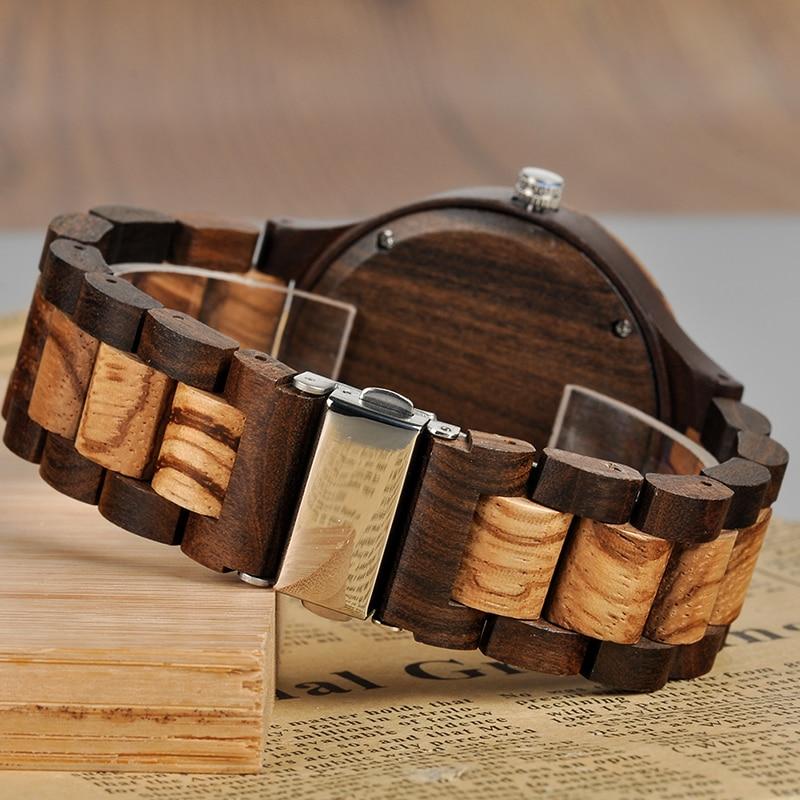 BOBO BIRD Personal Photo Print Customized Wood Watch with Gift Box 19