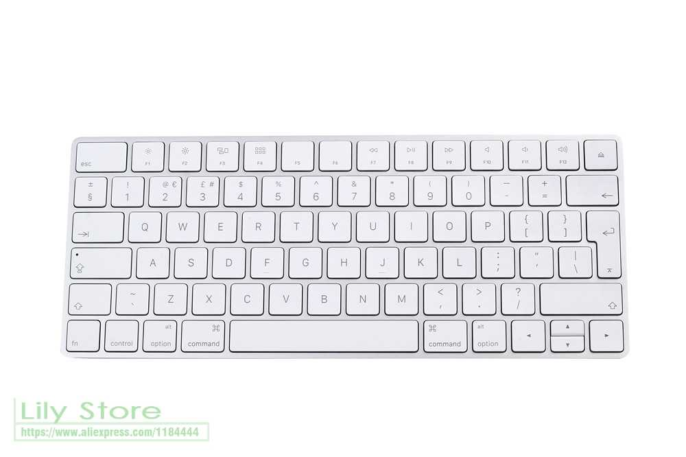 705bc1c1206 ... Euro UK ENGLISH For Apple IMAC PC computer Bluetooth wireless magic keyboard  cover skin film protection ...