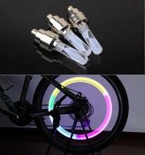 1pcs bike lights mtb mountain road bike bicycle lights LEDS Tyre Tire Valve Caps Wheel spokes LED Light auto lamp lamps BL0133