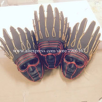 Yellow Red Led Luminous EL wire Indian Head Mask Night Club Illuminate Halloween Masquerade Party Masks Headwear