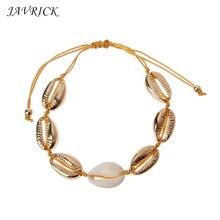 Natural Cowrie Shell Charm Women Bracelets Bohemian Fashion Summer Beach Jewelry