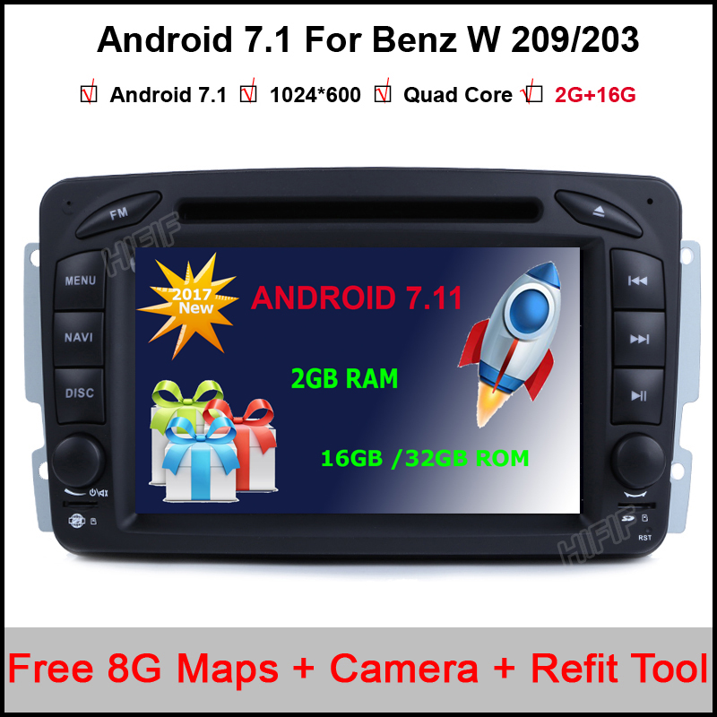 2din steering wheel for mercedes benz w209 203 car dvd for Mercedes benz app for android