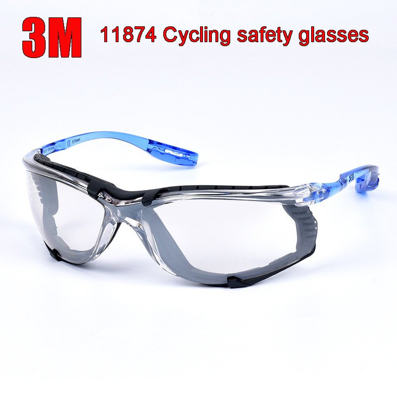 3M 11874 goggles Genuine security 3M protection glasses Comfortable Foam Frame Wearable earplugs safety goggles