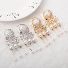 Vintage Bohemian Imitation Pearl Earrings for Women Fashion Temperament New Tassel Pop Jewelry