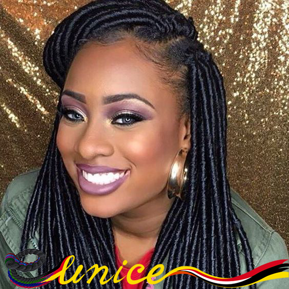 Prime Aliexpress Com Buy Eunice Brand Faux Locs Braids Synthetic Hair Short Hairstyles Gunalazisus