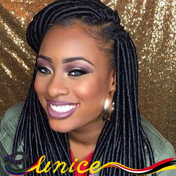 Terrific Aliexpress Com Buy Eunice Brand Faux Locs Braids Synthetic Hair Short Hairstyles Gunalazisus