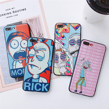 Science fiction Anime Rick Morty case for iphone X XS MAX XR 10 8 7 6 6S plus soft matte silicone phone cover Cute coque fundas(China)