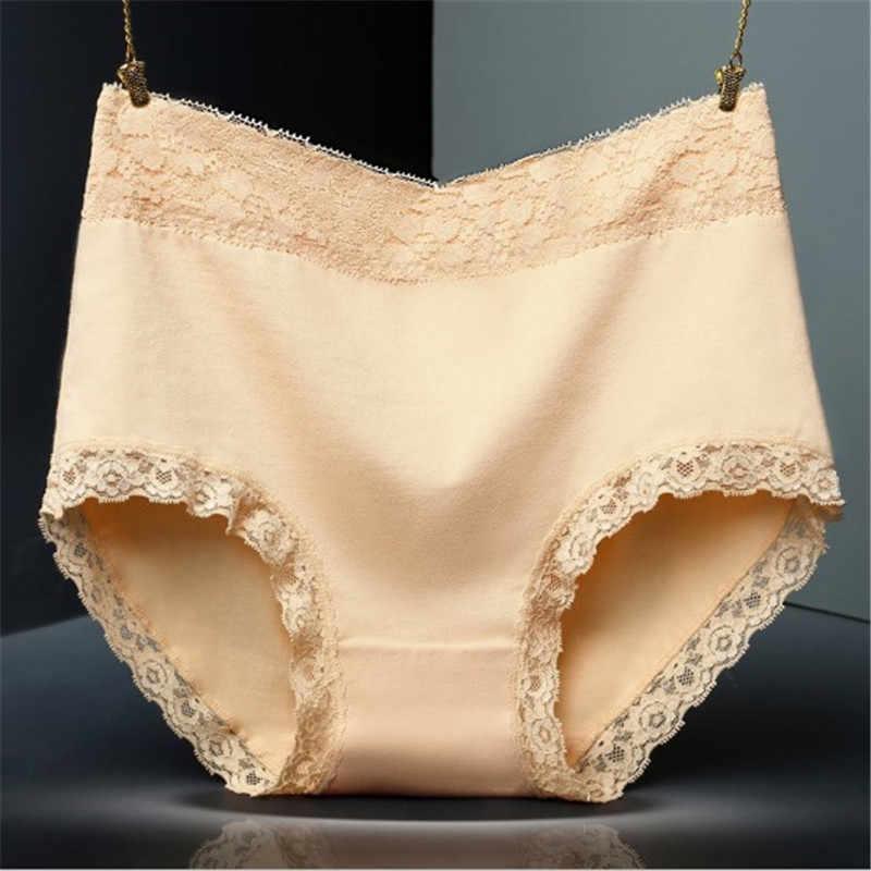 #620 LeafMeiry Highwaist Đồ Lót Phụ Nữ Ren Quần Lót Sexy Cotton Phụ Nữ Tóm Tắt