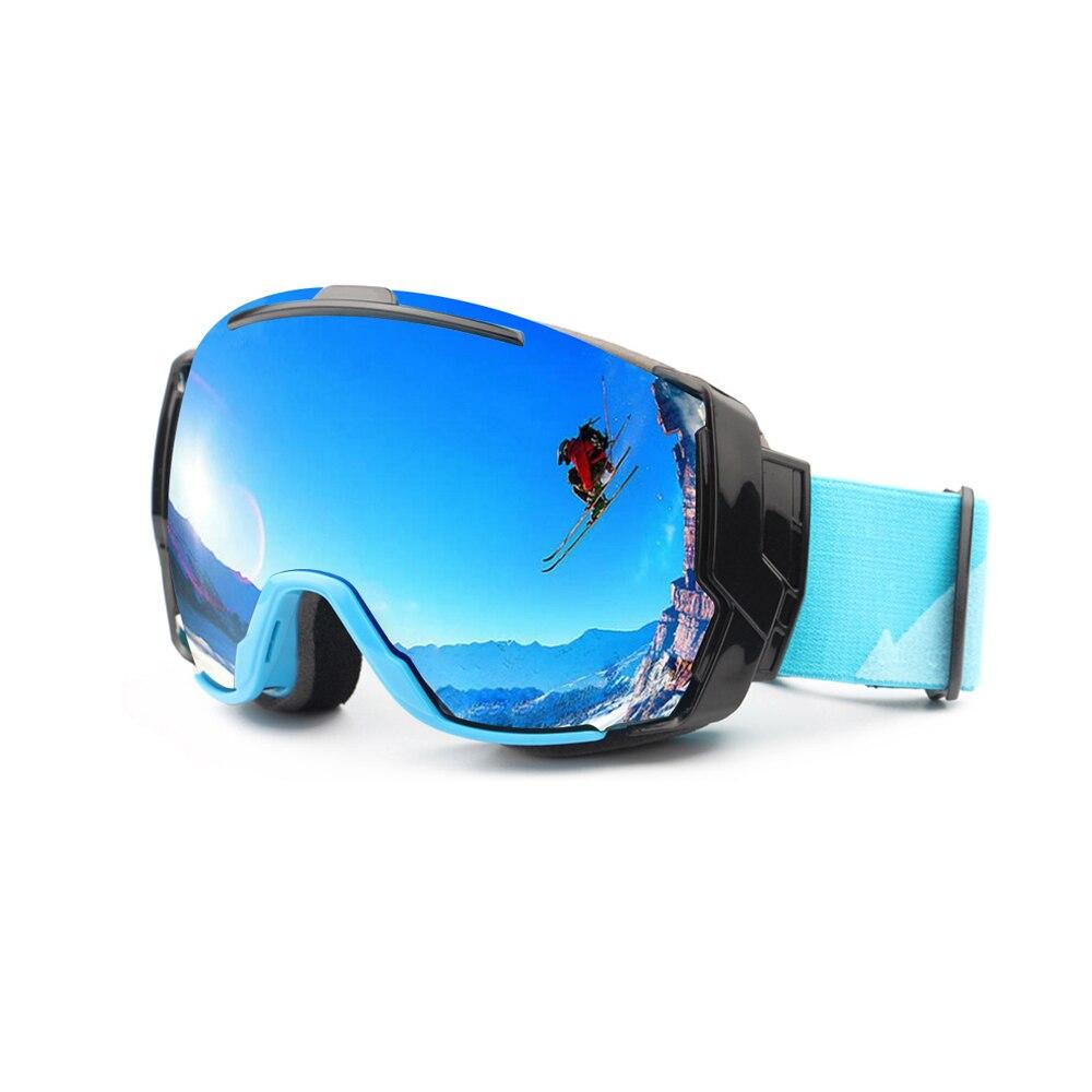 סקי משקפי מגן UV400 אנטי ערפל עם עדשת יום שטוף שמש ויום מעונן אפשרויות עדשה, סנובורד משקפי שמש ללבוש מעל משקפיים Rx