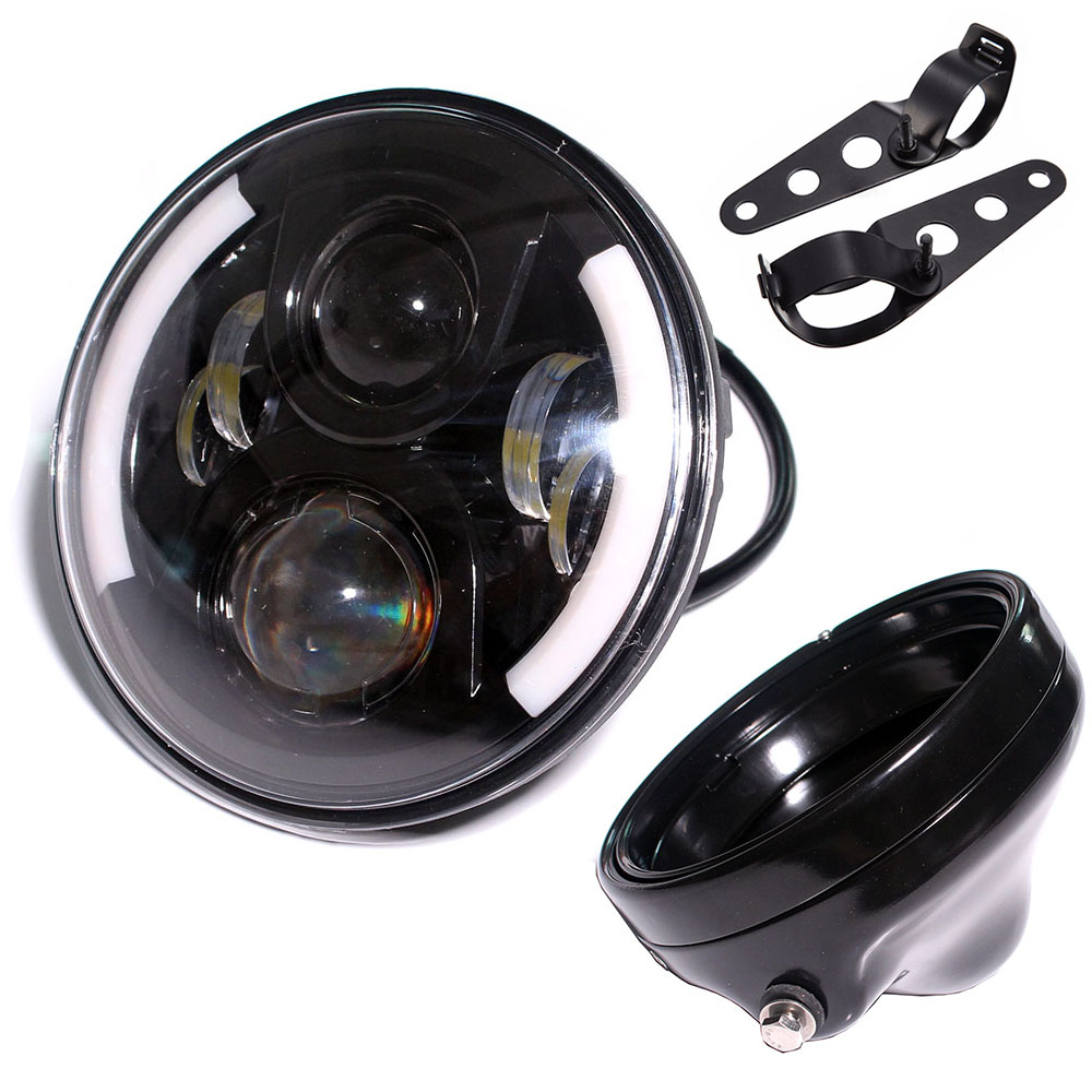 7 7 Inch headlights Housing bucket fit for Harley Davidson motorcycle black