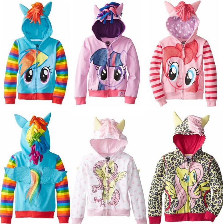 My Little Pony Wing Friendship Is Magic Girls Kids Toddler Cosplay Costumes Children Hoodie Cute Sweatshirt Coat Zipper Jackets