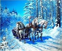 Diy ручной работы комплект ромба вышивка 100% полный круглый зенкеры лошади вышивки крестом алмазов мозаика живопись