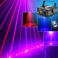New 9 Patterns RB Red&Blue Laser Projector Stage Lights 3W Blue LED Mixing Effect DJ Party KTV Laser Show Stage Lighting AZ09RB