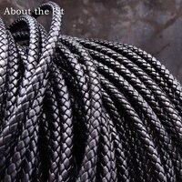 О Fit 5 мм 100 м кожаный шнур из натуральной плетеной кожи наппа коровья кожа аксессуары для изготовления ювелирных изделий тканые веревки