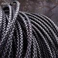 About the Fit 5mm 100 Meters Leather Cord Genuine Braided Leather Nappa Cow Leather Accessories For Jewelry Making Woven Rope