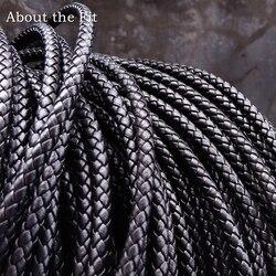 Over de Fit 5mm 100 Meter Lederen Koord Echt Gevlochten Lederen Nappa Koe Lederen Accessoires Voor Sieraden Maken Geweven touw