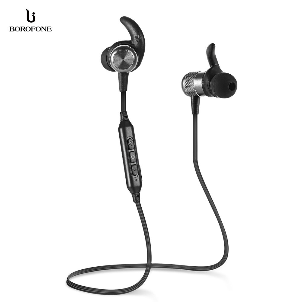 BOROFONE BE5 Wireless Earphone Waterproof Bluetooth 4.2 Sports earphones with Microphone In-ear Control nameblue st 33 sports bluetooth v4 0 in ear earphone headphone set w microphone volume control