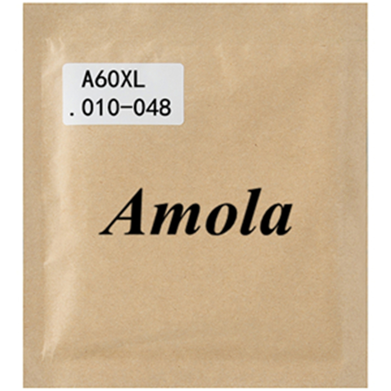 Amola A60XL 010-048 Acoustic Guitar Strings 2sets/lot Steel Phosphor Bronze Wound Guitar Parts & Accessories 3 sets alice aw466 light acoustic guitar strings plated high carbon steel