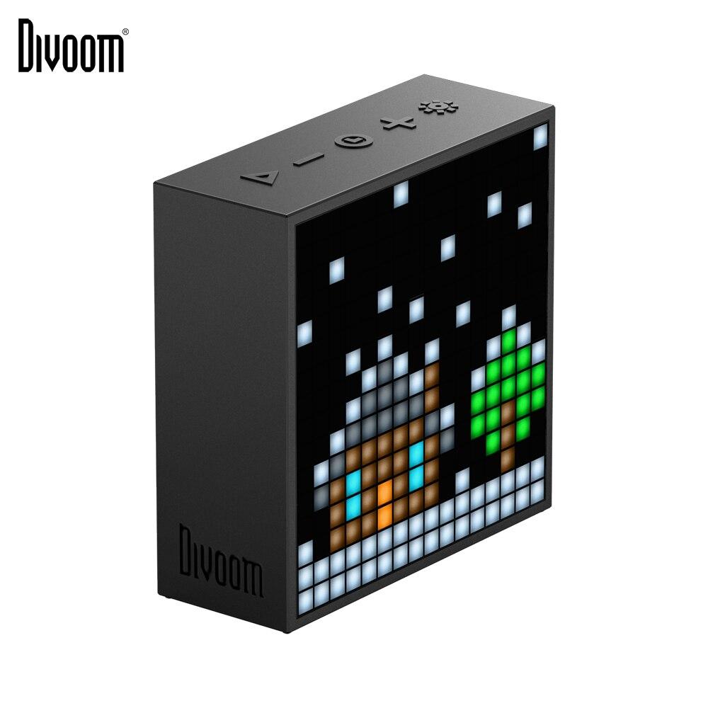 Haut-parleur portatif sans fil Bluetooth de Divoom Timebox Evo haut-parleur d'art de Pixel écran LED réveil avec App pour IOS Android