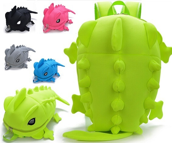 New Fashion Man And Women Personality Double Shouder Bag Student Funny Book Lover Dinosaur Traval