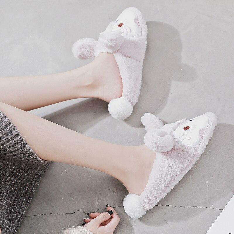 Drôle Peluche Kawaii Lapin Fox Pantufa Pantoufles Caoutchouc Chaussures Halluci Souple Home Diapositives Femmes Laine Lf En Intérieur Chinelo HUqf1w0znx