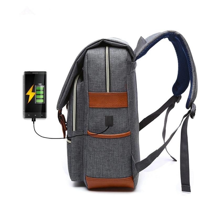 все цены на Outdoor Travel School BookBags External USB Charge Notebook Computer Bag New Waterproof Sport Backpack Laptop Bag For Women Men