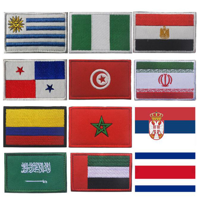 Значок ручной работы с нашивкой, вышивка, Панама, Nigera, крючок, кольцо, флаг, одежда, рюкзак, кепки, индивидуальная вышивка, дизайн, наклейки