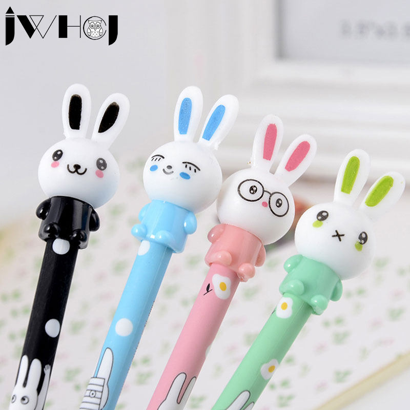 4 pcs/lot JWHCJ Cute Rabbit darling gel pen material escolar kawaii stationery canetas escolar school office supplies kids gifts lapices erasable pen kawaii stationary material escolar boligrafo gel penne cute canetas floral caneta stylo borrable cancellabi