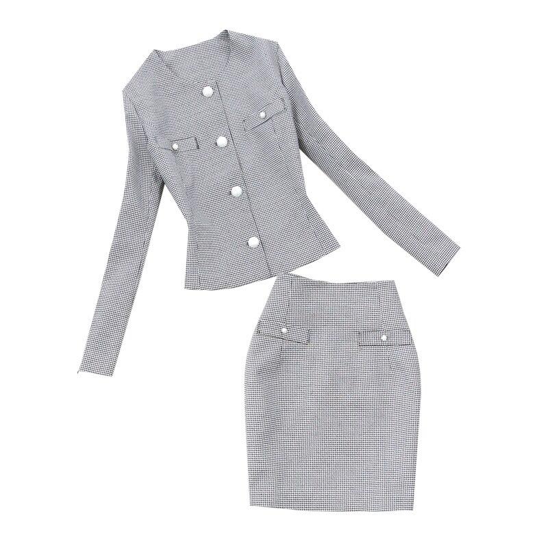 En Femmes Rétro Slim Hanche Nouveau 1 Féminin Tempérament 2019 De shirt Printemps Été Deux Sac Costume Et T Taille Grande Jupe Pièces Vêtements wHUnqpYq