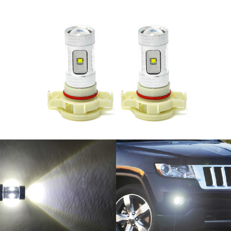 2x High Power CREE 5202 H16 6000K HID White LED Fog Light Driving Bulb For Dodge