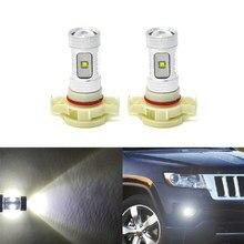 6500k branco conduziu as lâmpadas de substituição da névoa dianteira para jeep grand cherokee 11-13 carro-estilo de condução automática drl lâmpada
