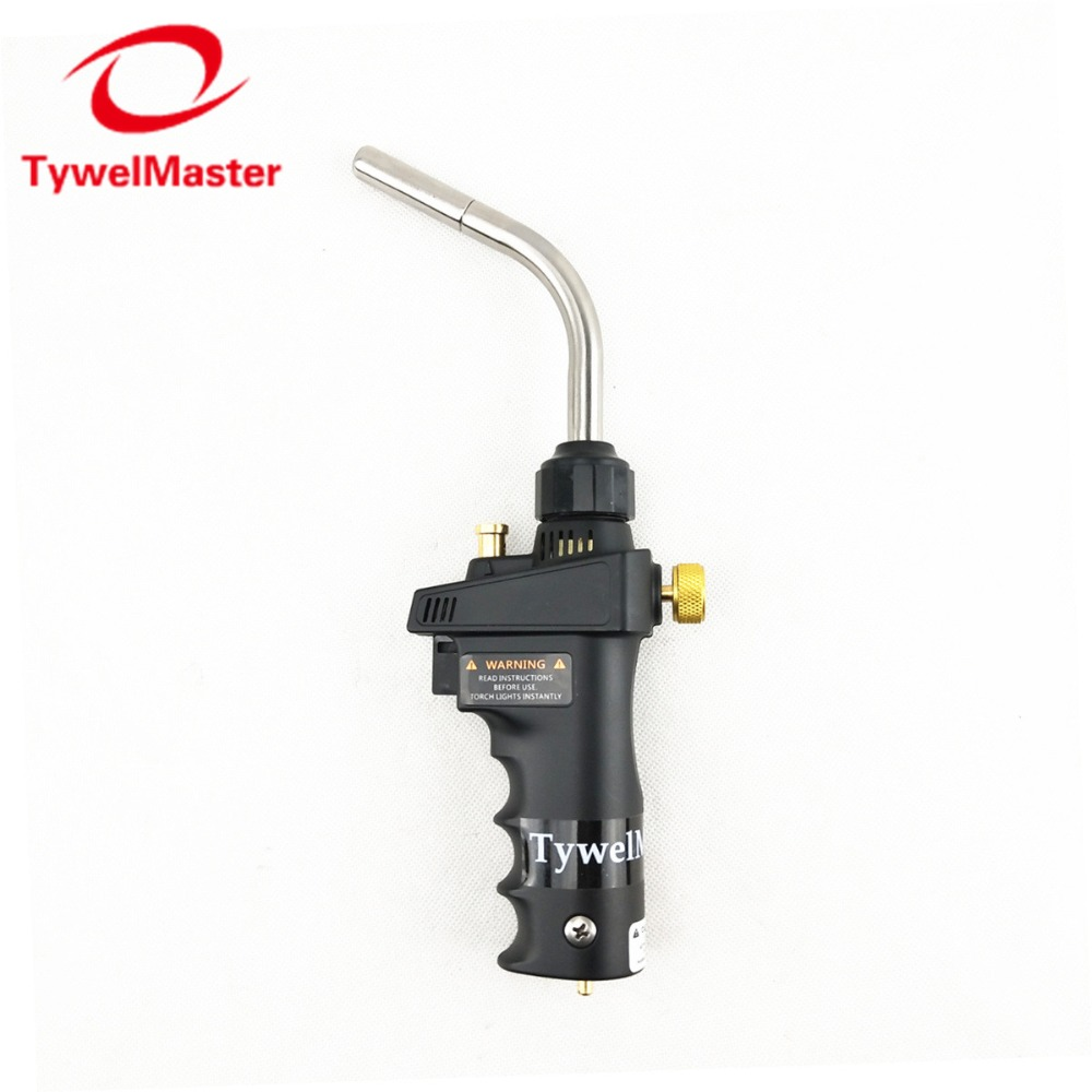 Mapp Gas Welding Torch Ignition Flame Brazing Gun Burner Blowtorch Welding BBQ Heating Quenching HVAC Plumbing Torch