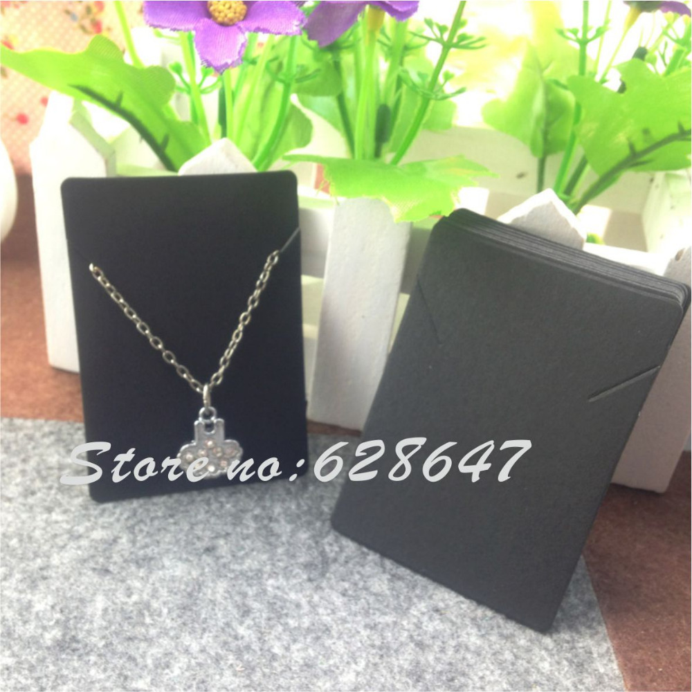 Us 6 4 20 Off 2015 New Hot Blank Kraft Necklace Card Diy Necklaces Display Cards White And Black Fashion Jewelry Card In Jewelry Packaging